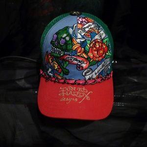 NWOT Ed Hardy (2pc)Swarovski Trucker Hat Bundle